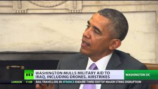 US to invade (Iraq) again? Obama doesn't rule anything out  6/13/2014