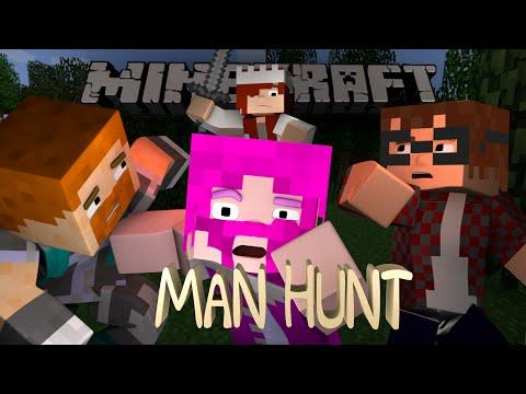 Minecraft Minigame - Man Hunt! Ft. MunchingBrotato, Dar, and Shelby