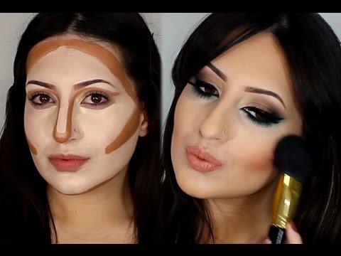 Сделать лицо худее помощью макияжа