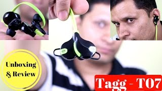 Sports In-Ear Blue-tooth Headset Review Tagg - T07 | Sharmaji Technical