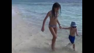 Kristina Pimenova on the beach 2017