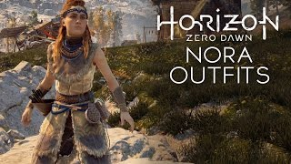 Horizon Zero Dawn - Nora Protector/Brave/Survivor/Silent Hunter Outfits (All Types of Nora Outfits)
