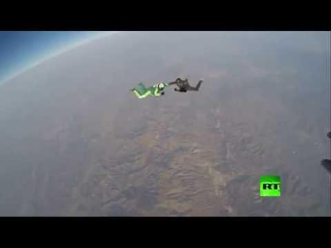 فيديو: أول قفزة من دون مظلة من ارتفاع 25 ألف قدم