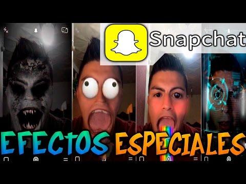 Como activar y utilizar los nuevos efectos especiales para Snapchat   Tutorial   Review