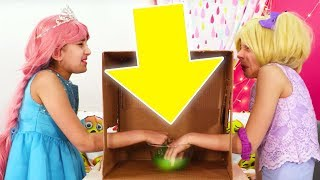 Guess The Animal 🐰 What's In The Box? Challenge (Part 2) - Princesses In Real Life   Kiddyzuzaa