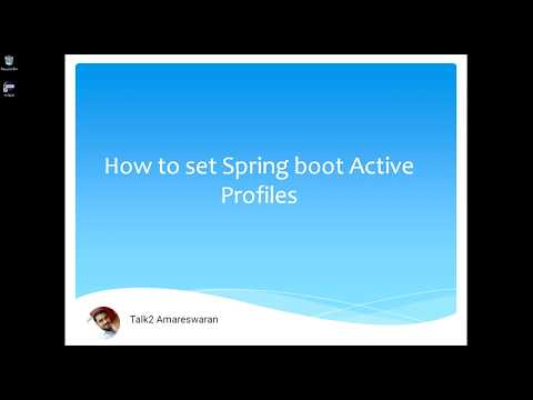 How to set Spring Boot Active Profiles