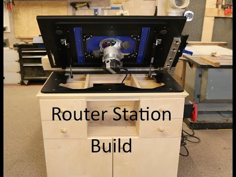 Router station Build With Dowelmax Lift
