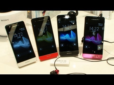 Sony Xperia GX & SX smartphones - docomo summer 2012  #DigInfo