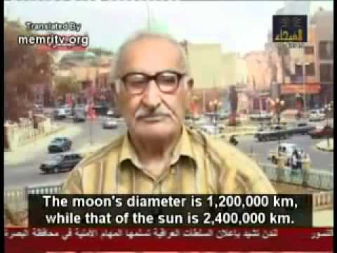 Muslim scientist says world is flat and the sun revolves around the earth because Quran says so.