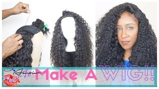 How To Make A Wig With A Lace Closure Tutorial | NO HAIR OUT