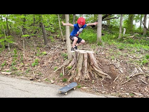 Father & Son Skateboard Jump In Nature! (And More!)