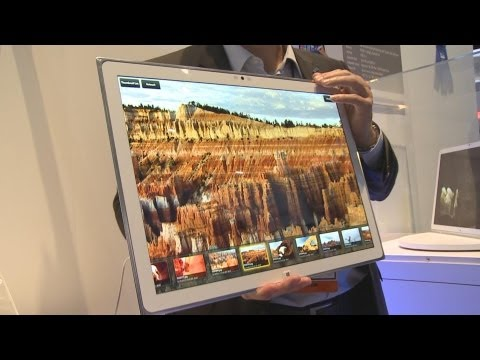 Panasonic's 4K Windows 8 Tablet  - CES 2013