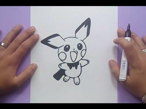 Como dibujar a Pichu paso a paso - Pokemon | How to draw Pichu - Pokemon