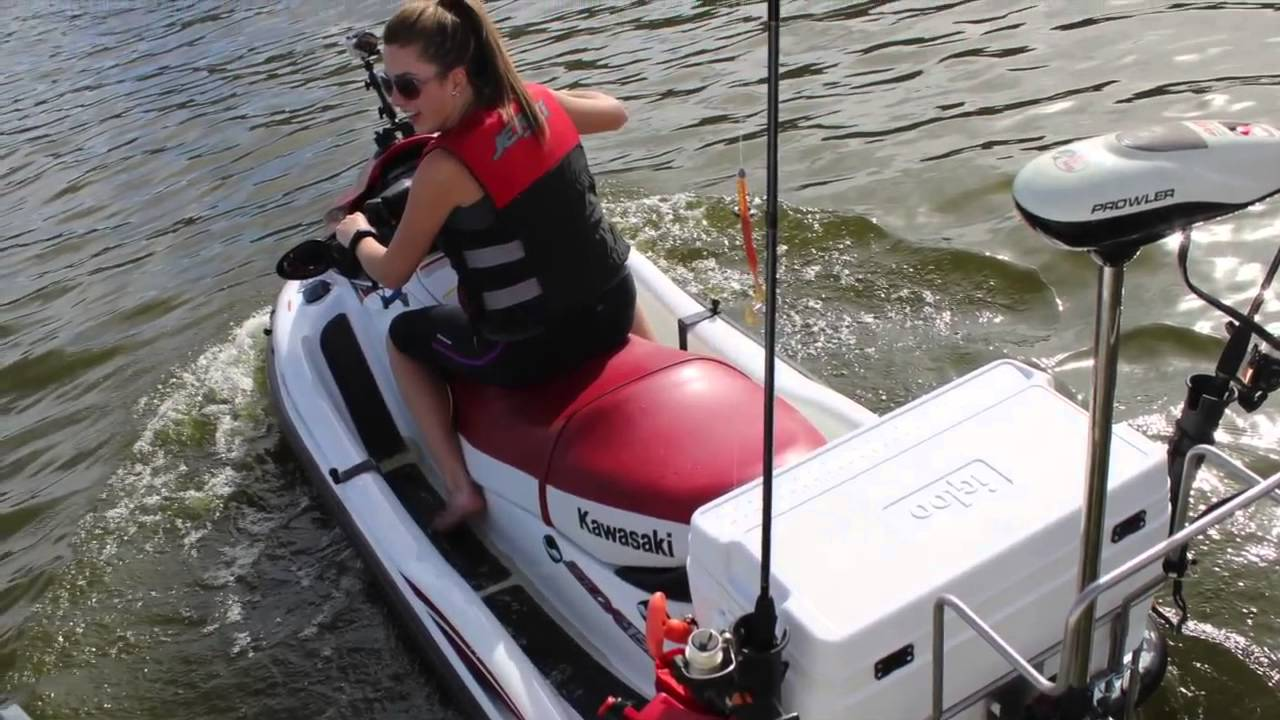 Strong outdoors pac rac jetski fishing 2 youtube for Jet ski fishing accessories