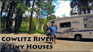 Tiny Homes, Mountains, & Scenic Cowlitz River Camping
