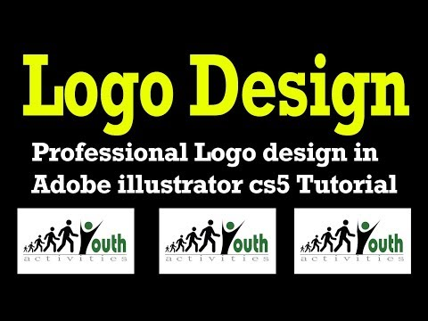 Professional Logo design in Adobe illustrator cs5 Tutorial-  How To Make Youth Logo Design Style