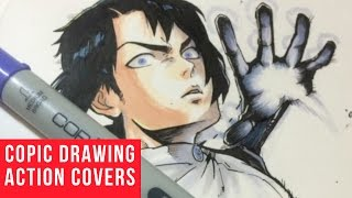 Copic Marker Drawings Action Covers
