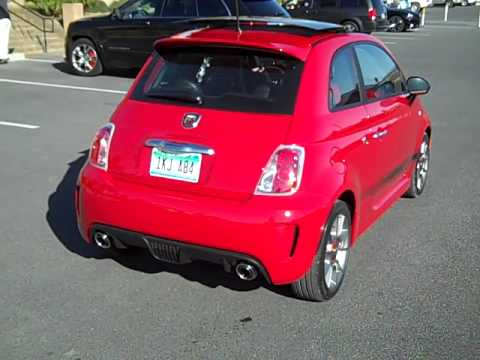 2012 Fiat 500 Abarth exhaust sound