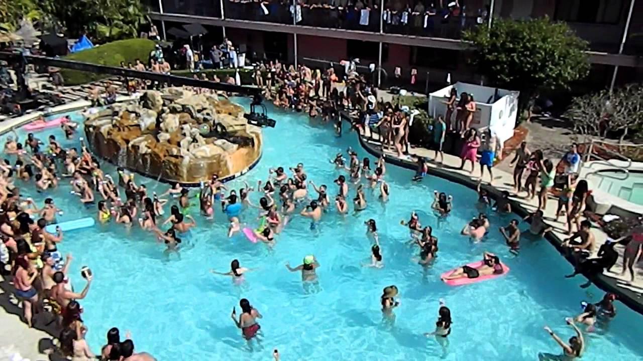 Spring Breakers Selena Gomez Pool Party Scene Youtube