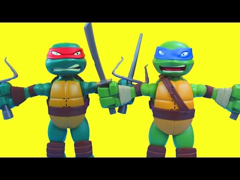 Teenage Mutant Ninja Turtles Stretch N Shout Leonardo Raphael TMNT Nickelodeon
