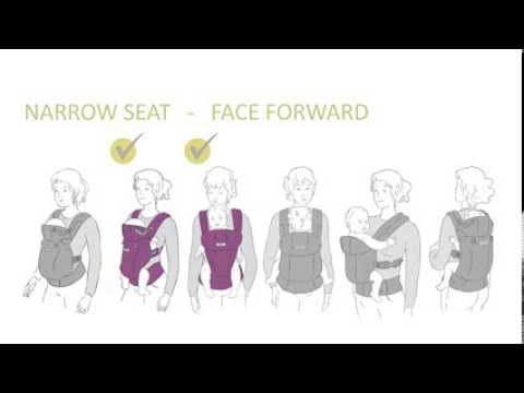 lillebaby COMPLETE Baby Carrier - Adjust to Narrow Seat Instructions
