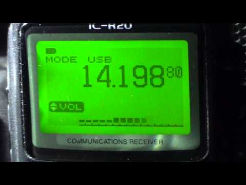 9K2DX Kuwait amateur radio station on icom ic r20