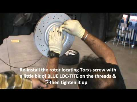 How to replace brake pads. rotors. and brake sensors 2007 Mercedes Benz C230 Sport
