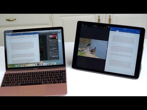 """12.9"""" iPad Pro vs. 12"""" MacBook Comparison Smackdown"""