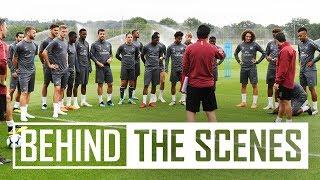 Pre-season exclusive | Unai Emery takes Arsenal stars through drills