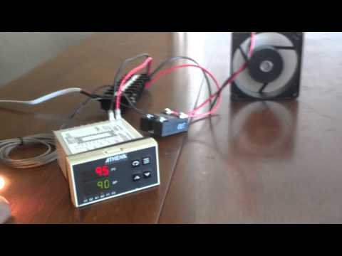 Athena-19 temperature controller for my BBQ smoker