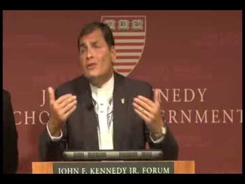 Ronda de Preguntas Conferencia Magistral Presidente Rafael Correa en Harvard