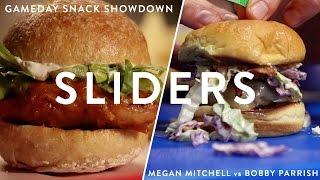 Sriracha Chicken Sliders vs. BBQ Beef Sliders | Gameday Snack Showdown Ep. 1
