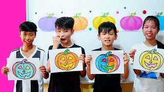 Kids go to School Learn Coloring Pumpkin   | Classroom Funny Nursery Rhymes