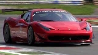 Ferrari 458 Italia GT3 SOUND - Accelerations & Downshifts