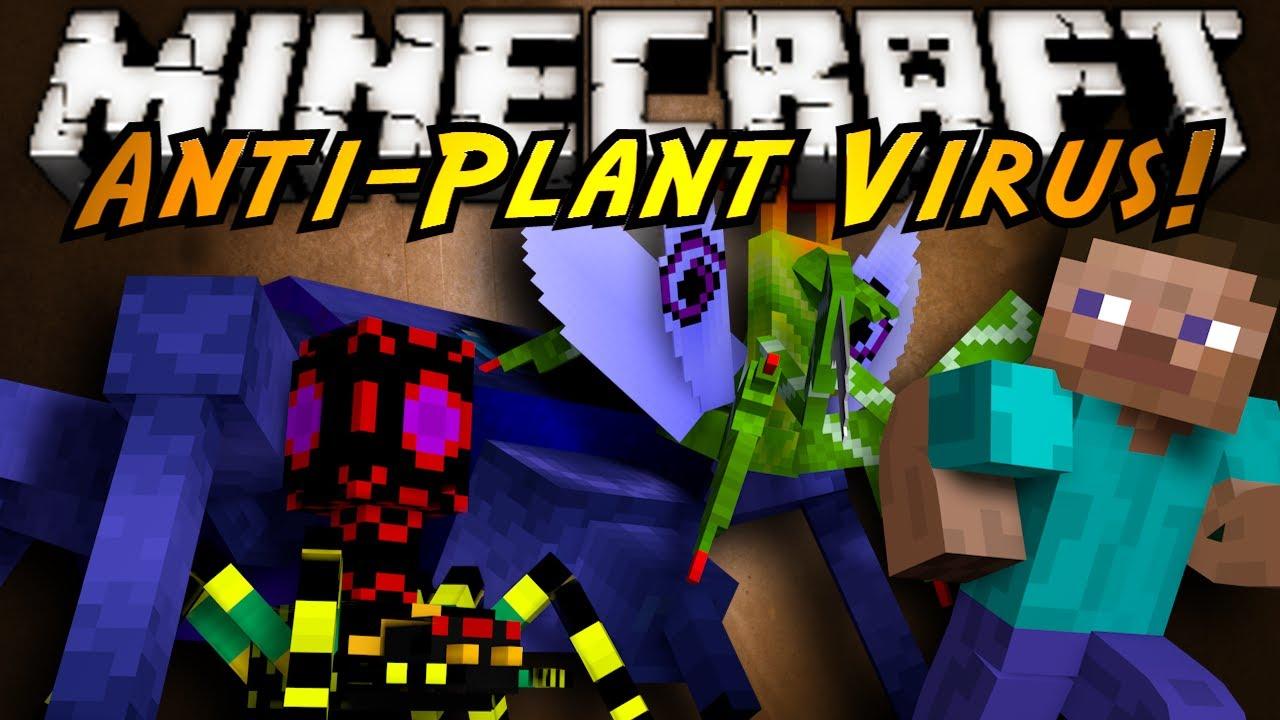 Minecraft mod showcase anti plant virus youtube