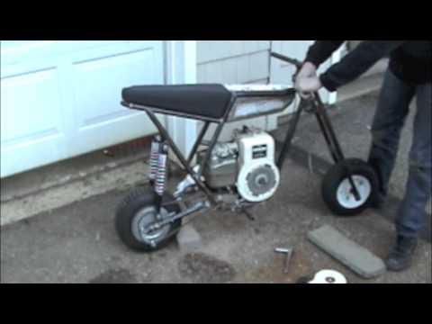Built from scratch mini bike