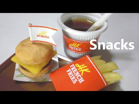 Kracie - happy kitchen #4 - Hamburger, French fries (Edible / can eat)