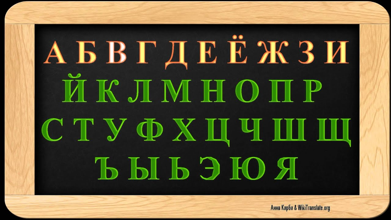 Letter Russian Words