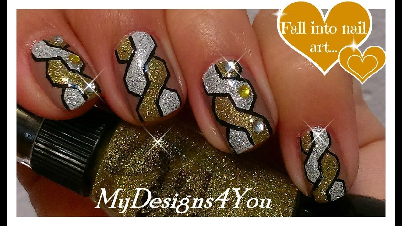 Braided Nail Art | How to Woven Nails | Gold & Silver Nail Design ...