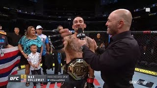 And Still! Max Holloway calls out Daniel Cormier in funny post-fight interview at UFC 240