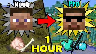 ONE MORE HOUR of how to transform from NOOB to PRO in MINECRAFT