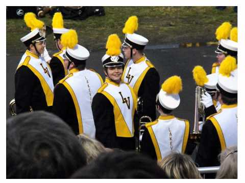 Pictures of Richard in the LakeVille High School Marching Band