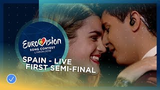 Amaia y Alfred - Tu Canción - LIVE - Spain - First Semi-Final - Eurovision 2018