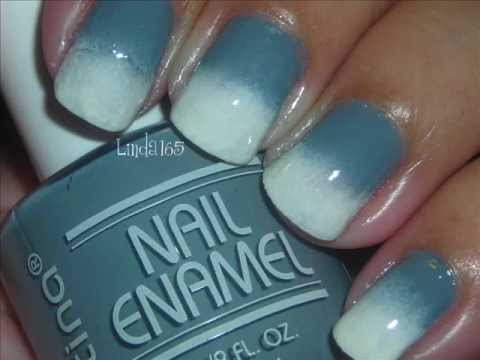 Quick Mani # 2 - Gray to White Reverse Gradient (Ombr) Music Videos
