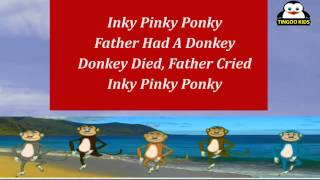 Animated Nursery Rhymes | Inky Pinky Ponky | Karaoke Song With Ding, Dong, Dumbo, Dopey & YoYo