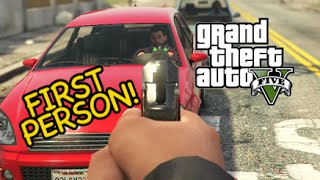 FIRST PERSON CHAOS! [GTA V] [PS4] [GAMEPLAY]