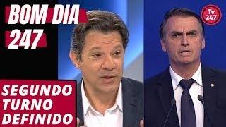 Bom dia 247 (19/9/18): Segundo turno definido entre Haddad e Bolsonaro