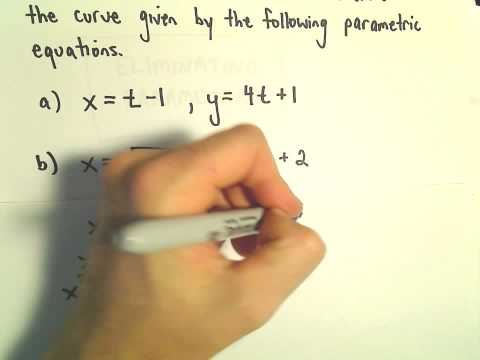Eliminating the Parameter to Graph Parametric Equations, 3 Examples