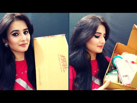 Huge NYKAA Haul | Skincare, Haircare,  Beginners Makeup Kit Products | SWATI BHAMBRA