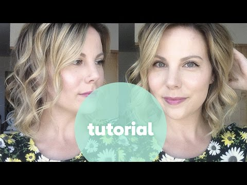 Tutorial: How to Curl Short Hair - Beachy Waves with NuMe 25mm Wand